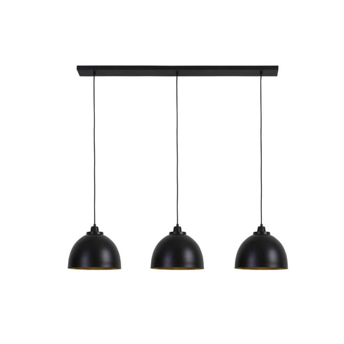 Light & Living Hanglamp 'Kylie' 3-Lamps, mat zwart-goud
