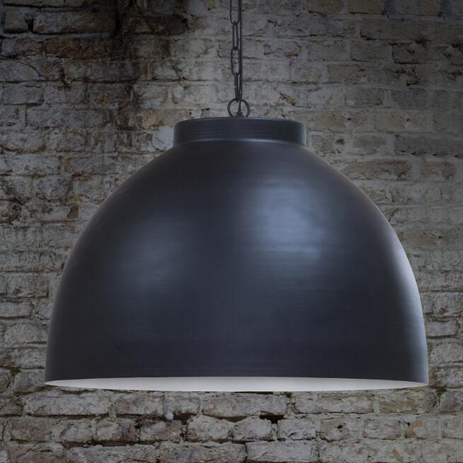 Light & Living Hanglamp 'Kylie XL' 60cm, grafiet-wit, kleur Zwart
