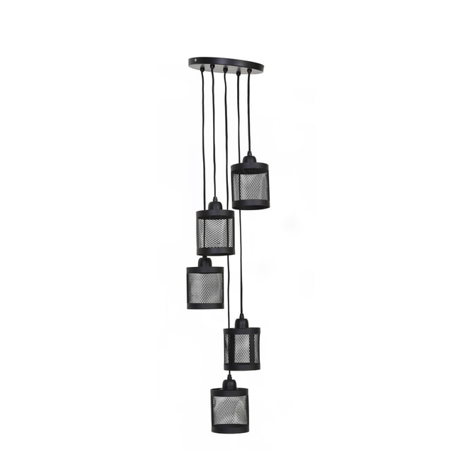 Light & Living Hanglamp 'Laetitia' 25cm, mat zwart