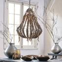 Light & Living Hanglamp 'Lola' kralen, hout naturel