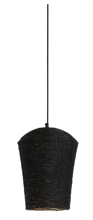 Light & Living Hanglamp 'Lucy' 24cm, mat zwart/goud