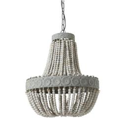 Light & Living Hanglamp 'Luna' kralen Ø 52cm, kleur oud wit