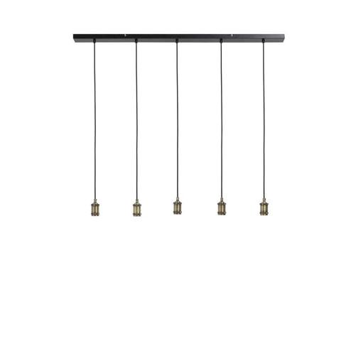 Light & Living Hanglamp 'Madelin' 5-Lamps 120 cm, antiek brons