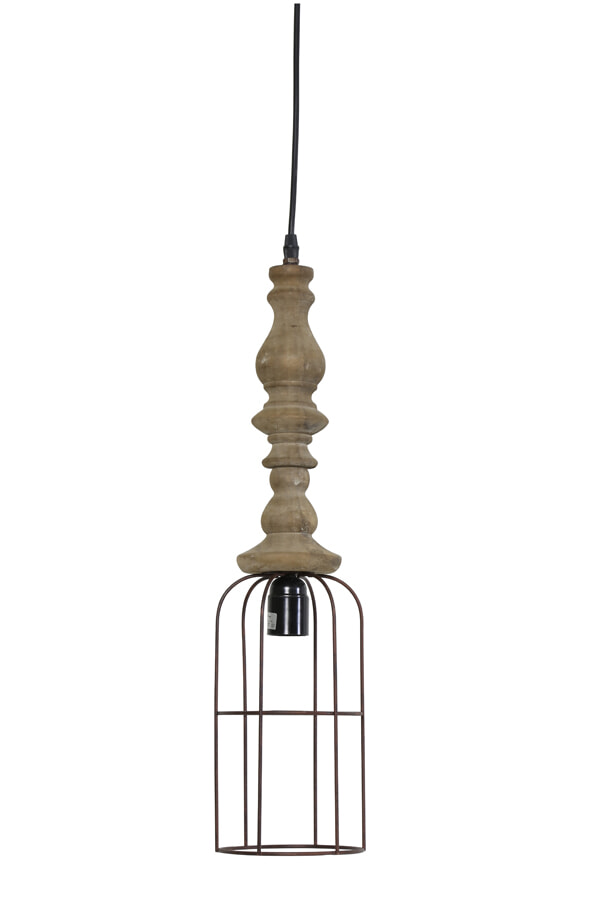 Light & Living Hanglamp 'Resi' Hout, 15cm