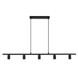 Light & Living Hanglamp 'Rokusina' 5-Lamps, kleur Zwart