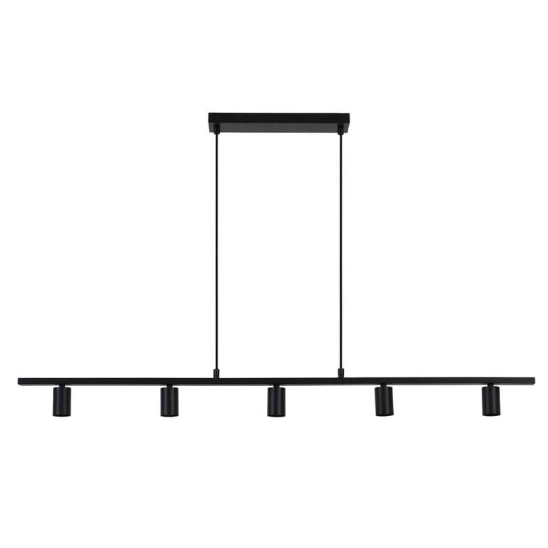 Light & Living Hanglamp 'Rokusina' 5-Lamps, zwart