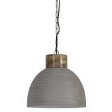 Light & Living Hanglamp 'Samana' 40cm, hout kop beton-wit, kleur Beton kleur