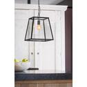 Light & Living Hanglamp 'Saunte', glas metaal zwart