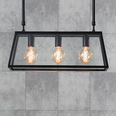Light & Living Hanglamp 'Svana' 3-Lamps, glas zwart
