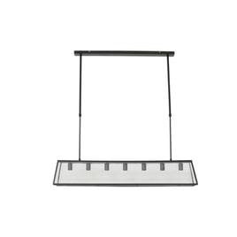 Light & Living Hanglamp 'Svana' 7-Lamps, glas zwart