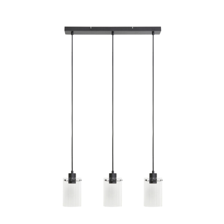 Light & Living Hanglamp 'Vancouver' 3-Lamps, mat zwart