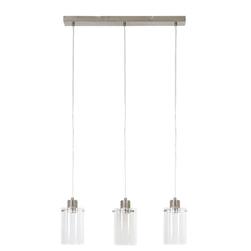 Light & Living Hanglamp 'Vancouver' 3-Lamps, nik. satijn-glas