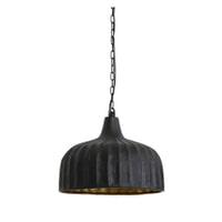 Light & Living Hanglamp 'Verena' 39.5cm, mat zwart-goud