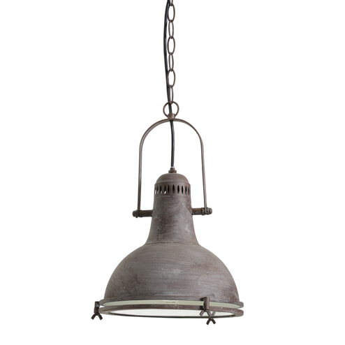 Light & Living Hanglamp 'Wismar' 28cm, kleur antiek bruin