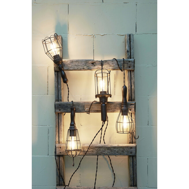 Light & Living Hanglamp 'Worker' Bucket, kleur zwart