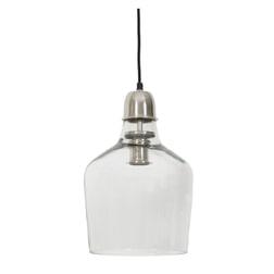 Light & Living Hanglamp 'Yole' 21cm, glas nikkel