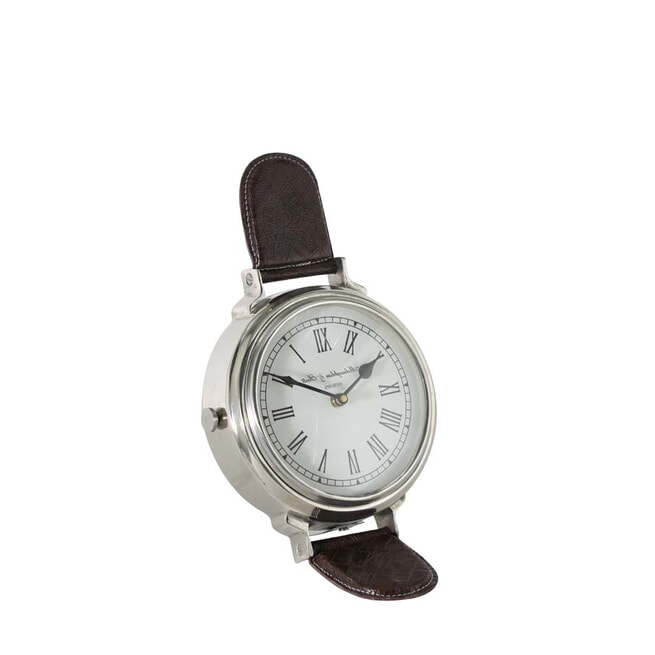 Light & Living Klok 'Watch' 25cm, kleur nikkel