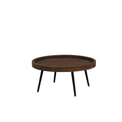 Light & Living Salontafel 'Coban', hout+metaal zwart