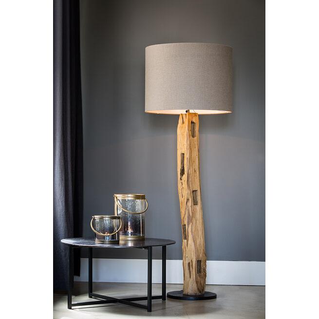Light & Living Salontafel 'Collina', mat zwart+ruw brons