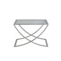 Light & Living Salontafel 'Molina', glas+nikkel