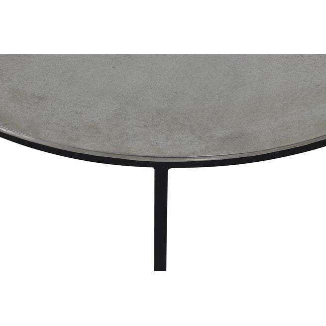 Light & Living Salontafel 'Thizas' Set van 2 stuks, ruw nikkel-mat zwart