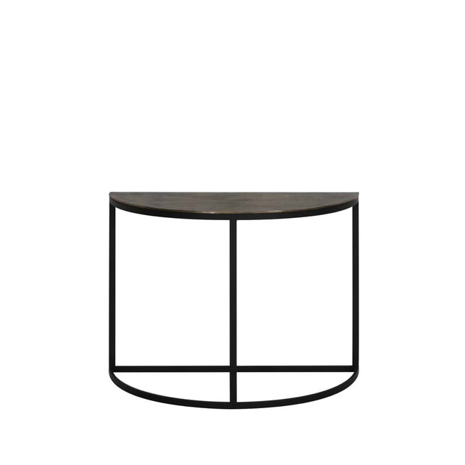 Light & Living Sidetable 'Peto', ruw antiek brons-zwart