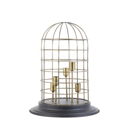 Light & Living Tafellamp 'Changi' 5-Lamps, zwart-brons