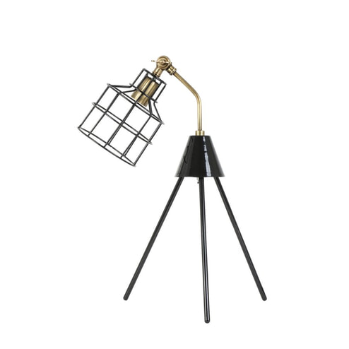 Light & Living Tafellamp 'Marais' 31x26x55 cm, zwart antiek brons