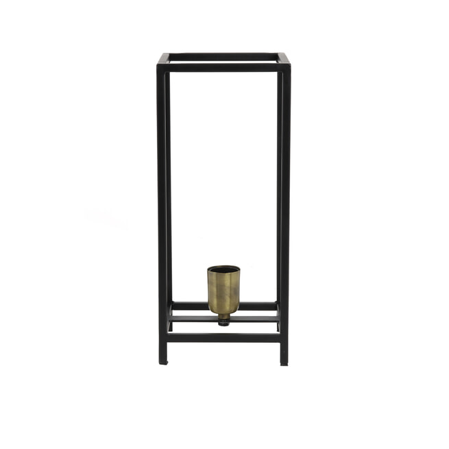 Light & Living Tafellamp 'Marley', mat zwart/ant brons