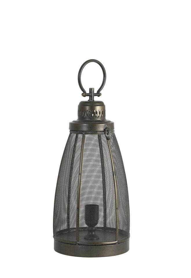Light & Living Tafellamp 'Pruez' 43cm, kleur donker brons