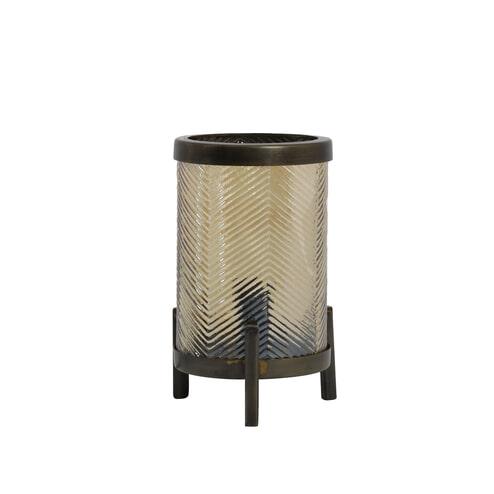 Light & Living Tafellamp 'Tjibe', glas goud luster+antiek brons