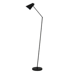Light & Living Vloerlamp 'Borre', mat zwart/glans wit