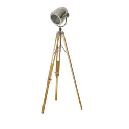 Light & Living Vloerlamp 'Botha' staal met hout naturel