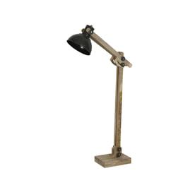 Light & Living Vloerlamp 'Edward', hout bruin en leger groen