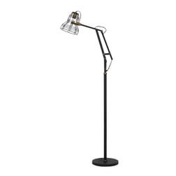 Light & Living Vloerlamp 'Jackson', mat zwart-antiek brons
