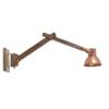 Light & Living Wandbureaulamp 'Efren' 58x18x55 cm, hout bruin en koper