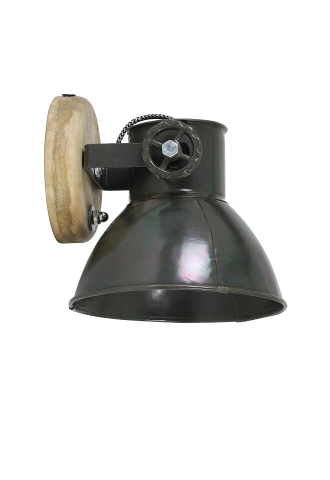 Light & Living Wandlamp 'Elay', hout-leger groen