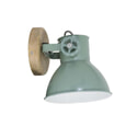 Light & Living Wandlamp 'Elay', hout naturel+industrieel groen