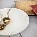 Light & Living Bijzettafel 'Moyuta', marmer wit-goud, kleur