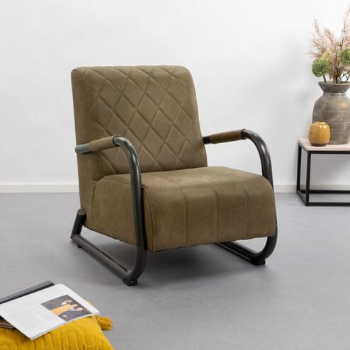 Tower Living fauteuil 'Ranch' Leder