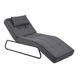 Loungestoel 'Thea' kleur grijs