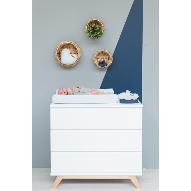 Bopita Commode 'Lynn' kleur wit / naturel