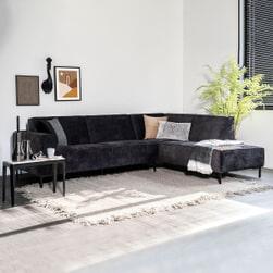 Sevn Loungebank 'Michelle' rechts, kleur antraciet
