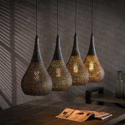 Mioni Hanglamp 'Ponce' 4-lamps