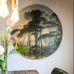 By-Boo Wanddecoratie 'Morita Jungle' Ø120cm