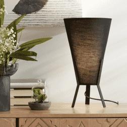 Kave Home Tafellamp 'Morya', kleur Zwart