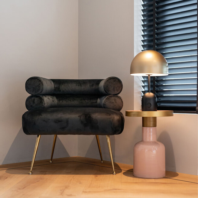 Richmond Fauteuil 'Amelia' Velvet, kleur Zwart
