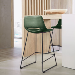 Kave Home Barkruk 'Zendaya' kleur Groen