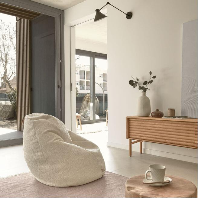 Kave Home Zitzak 'Vicka' kleur Wit