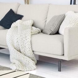 Kave Home Plaid 'Adonia' kleur Wit